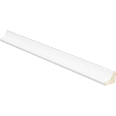 Inteplast Building Products 11/16 In. W. x 11/16 In. H. x 8 Ft. L. Crystal White Polystyrene Cove Molding