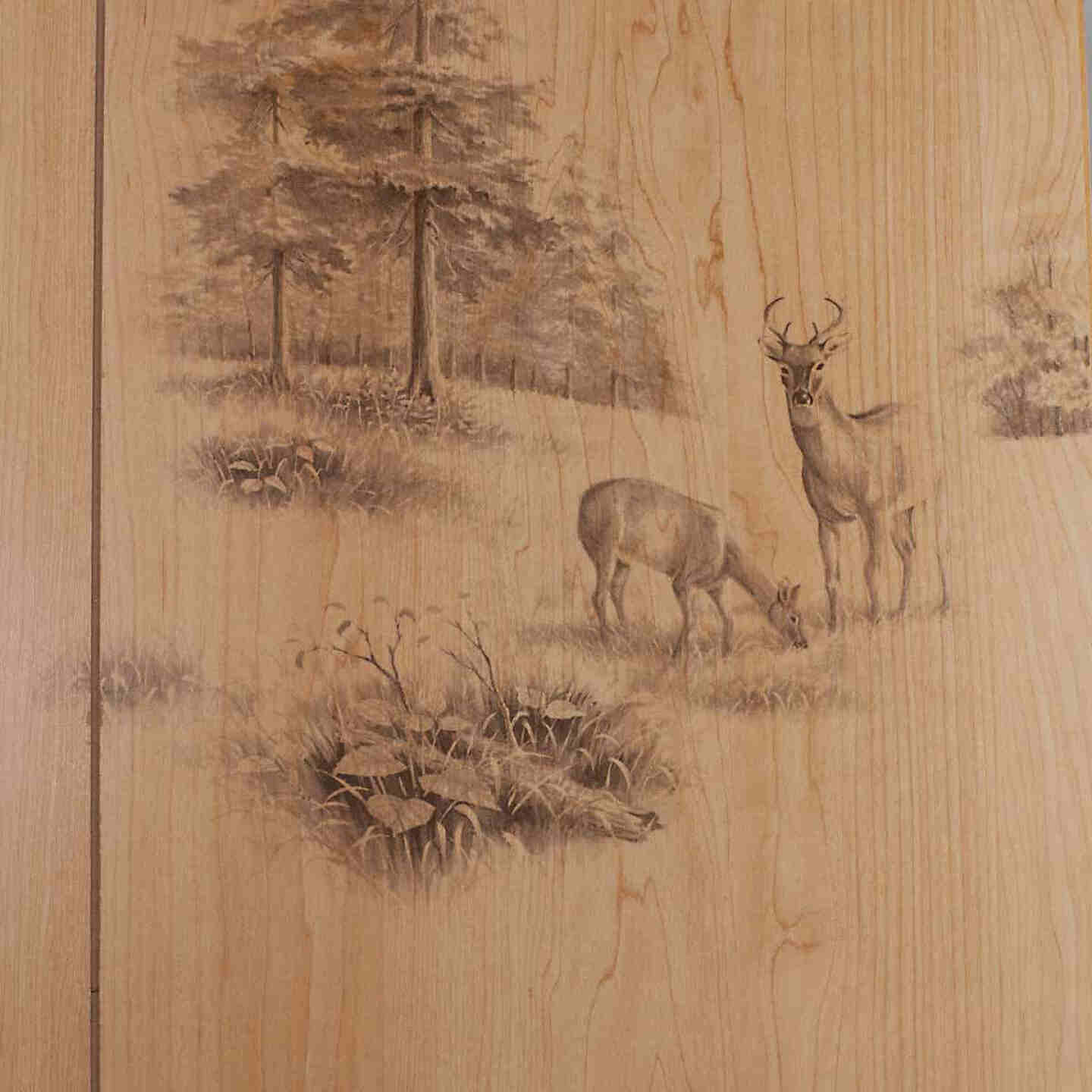 Global Product Sourcing 4 Ft. x 8 Ft. x 1/8 In. Woodsman Random Groove Profile Wall Paneling Image 1