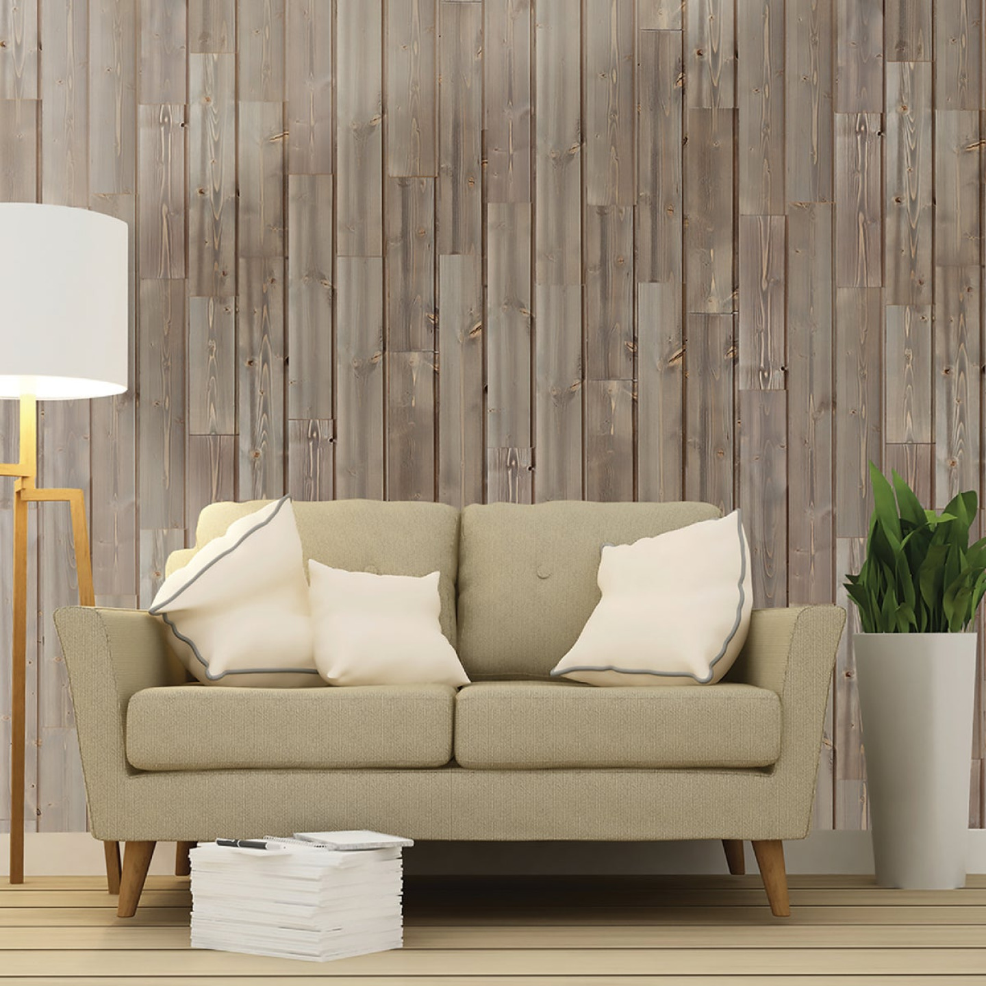 Global Product Sourcing 5.375 In W. x 5/16 In. Thick Gray Reclaimed Wood Shiplap Board Image 3
