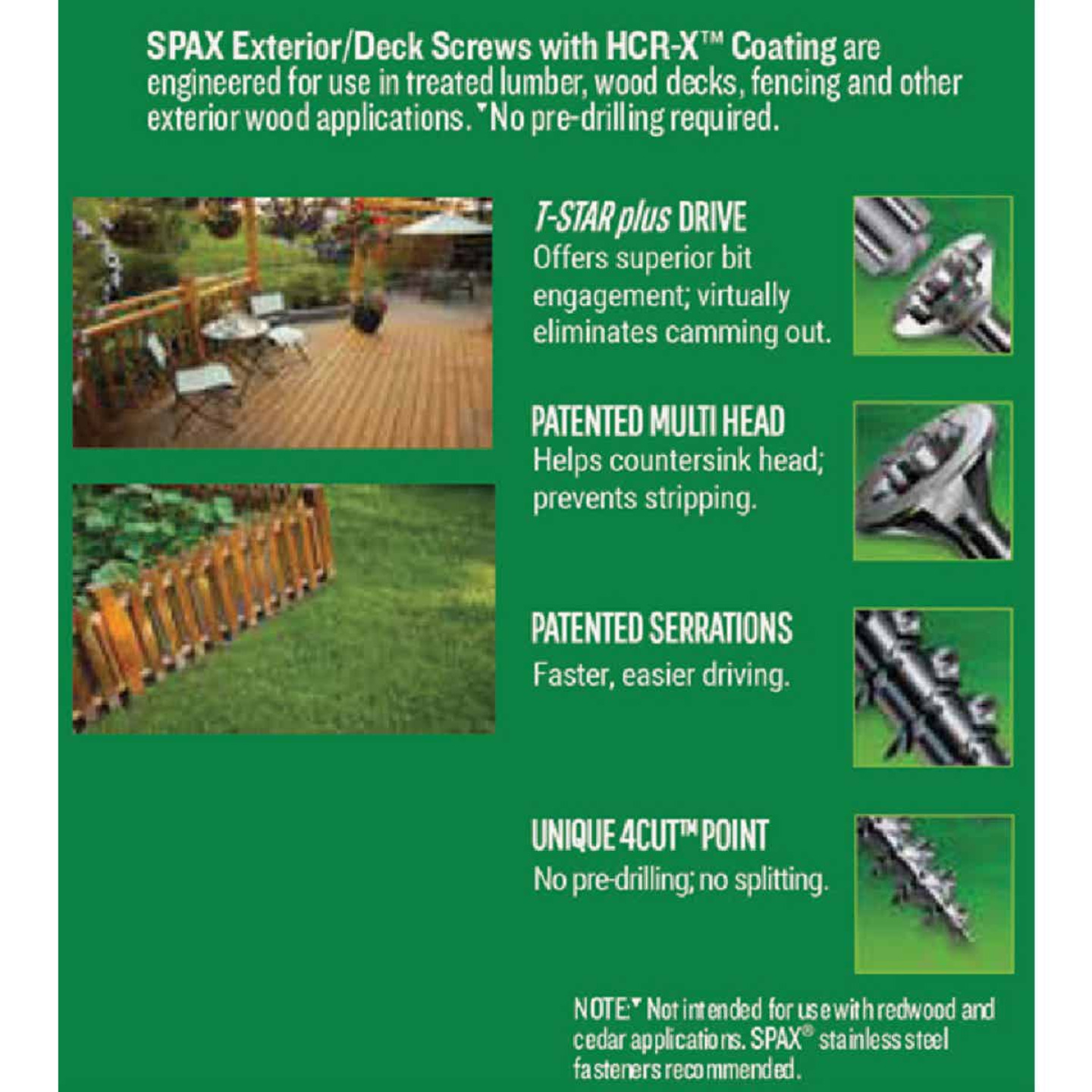 Spax #8 x 2 In. Flat Head Exterior Multi-Material Construction Screw (1 Lb. Box) Image 4