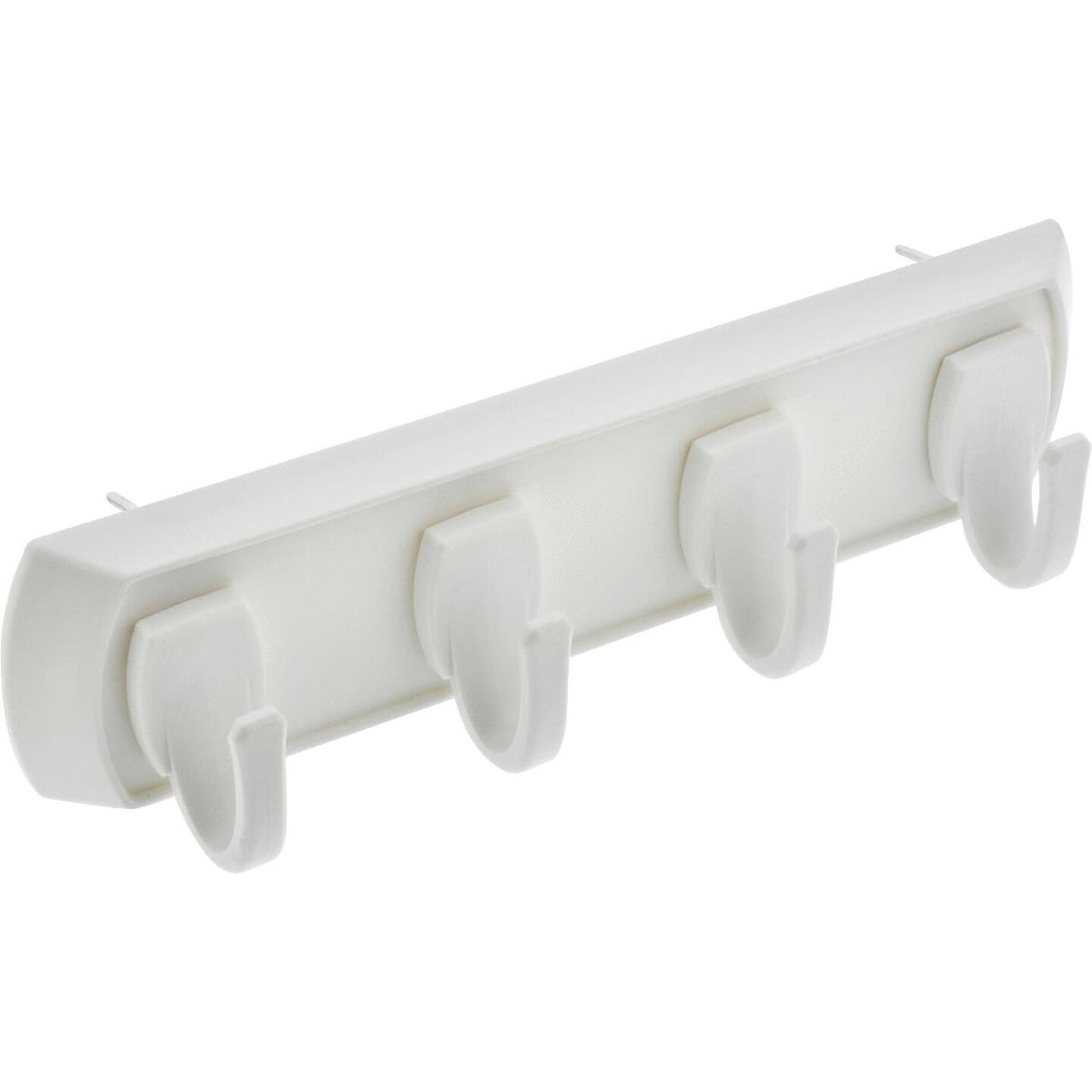 Hillman High and Mighty 5 Lb. Capacity White Key Rail Image 1