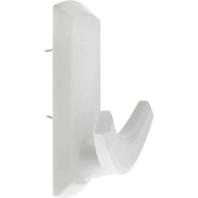 Hillman High and Mighty 20 Lb. Capacity White Rectangular Decorative Double Hook