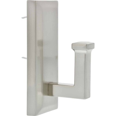 Hillman High and Mighty 25 Lb. Capacity Satin Nickel Rectangular Decorative Hook