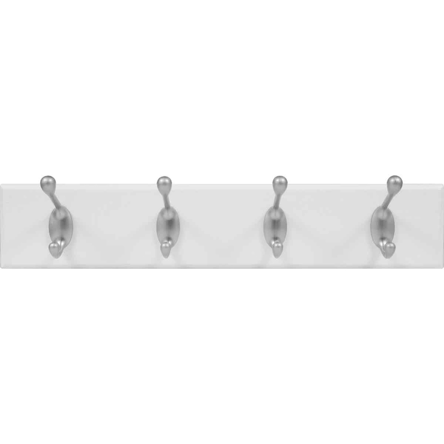 High and Mighty 18 In. 30 Lb Capacity White Hook Rail Image 2