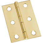 National 1-3/4 In. x 2-1/2 In. Brass Medium Decorative Hinge (2-Pack) Image 1