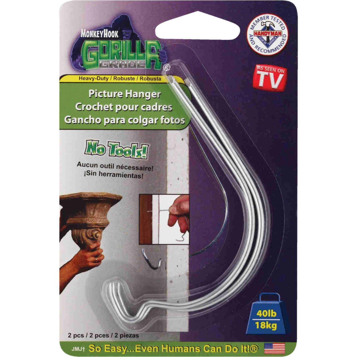 Monkey Hook Gorilla Grade Hanger with Perfect Install Guide (2 Count) Image 2