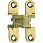 SOSS Satin Brass 1/2 In. x 2-3/8 In. Invisible Hinge, (2-Pack) Image 1