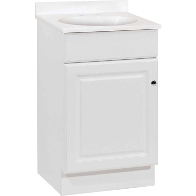 Continental Cabinets Richmond White 19 In. W x 35-1/4 In. H x 17 In. D Vanity with White Cultured Marble Top