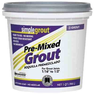 Custom Building Products Simplegrout Quart Bright White Pre-Mixed Tile Grout