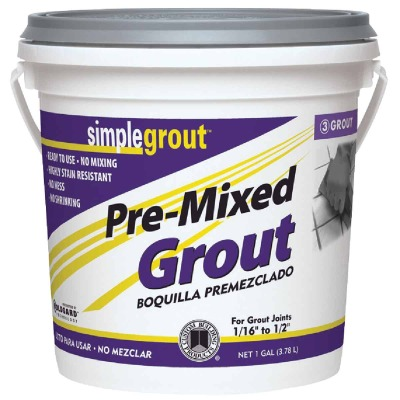 Custom Building Products Simplegrout Gallon Bright White Pre-Mixed Tile Grout