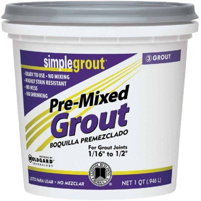 Custom Building Products Simplegrout Quart Natural Gray Sanded Tile Grout