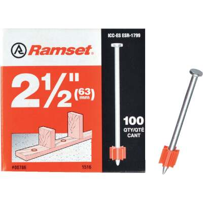 Ramset 2-1/2 In. Fastening Pin (100-Pack)
