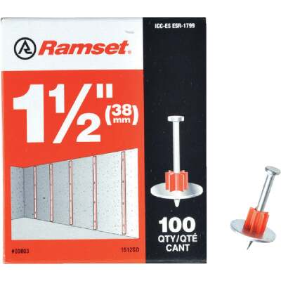 Ramset 1-1/2 In. Fastening Pin with Washer (100-Pack)