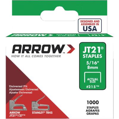Arrow JT21 Light Duty Staple, 5/16 In. (1000-Pack)