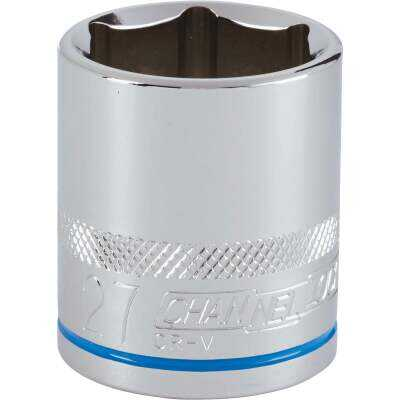 Channellock 1/2 In. Drive 27 mm 6-Point Shallow Metric Socket