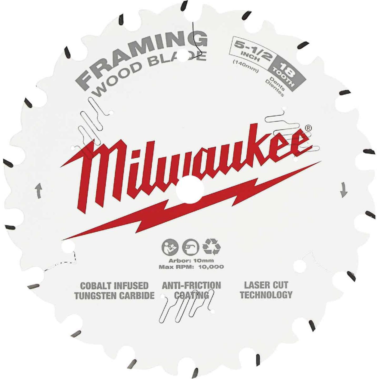 Milwaukee 5-1/2 In. 18-Tooth Framing Circular Saw Blade Image 1