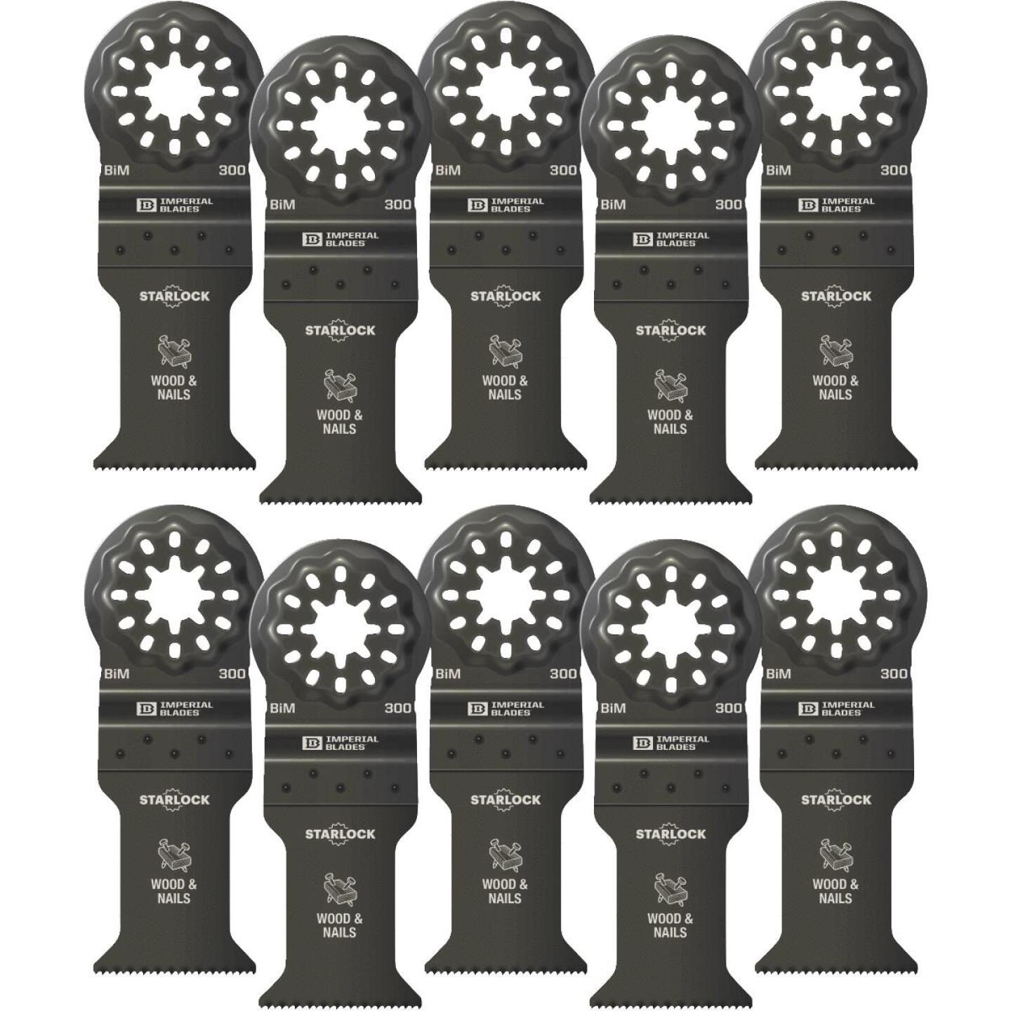 Imperial Blades Starlock 1-3/8 In. 18 TPI Wood/Nail Oscillating Blade (10-Pack) Image 1