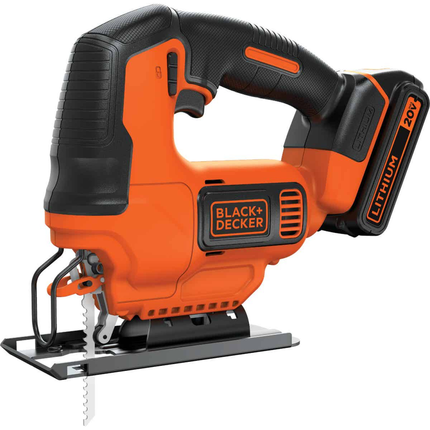 Black & Decker 20 Volt MAX Lithium-Ion 1.5 Ah Cordless Jig Saw Kit Image 1
