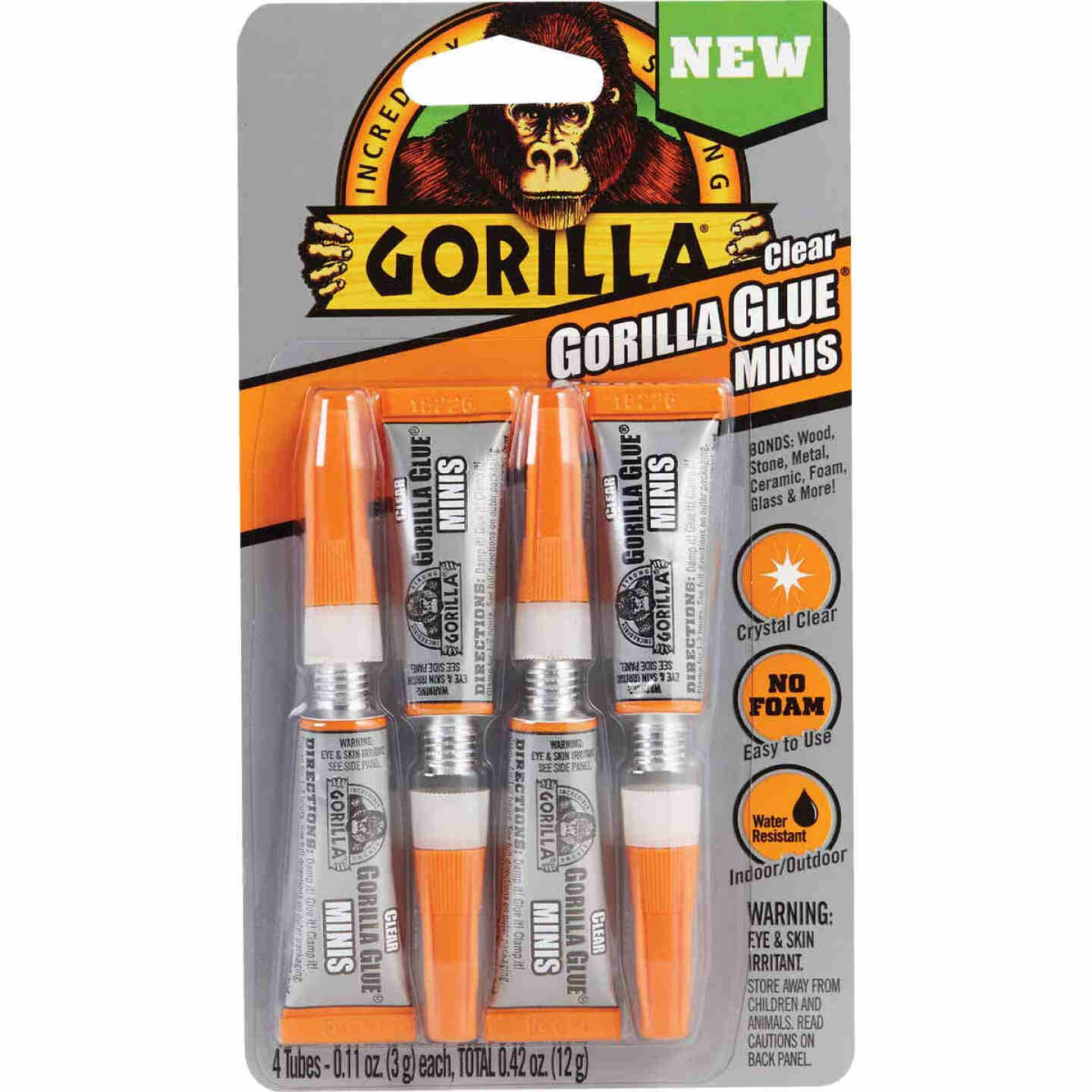 Gorilla 0.42 Oz. Clear Mini All-Purpose Glue (4-Pack) Image 1