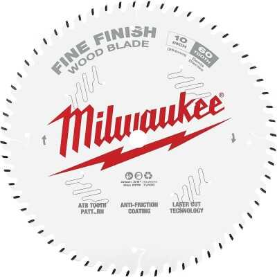 Milwaukee 10 In. 60-Tooth Fine Finish Circular Saw Blade