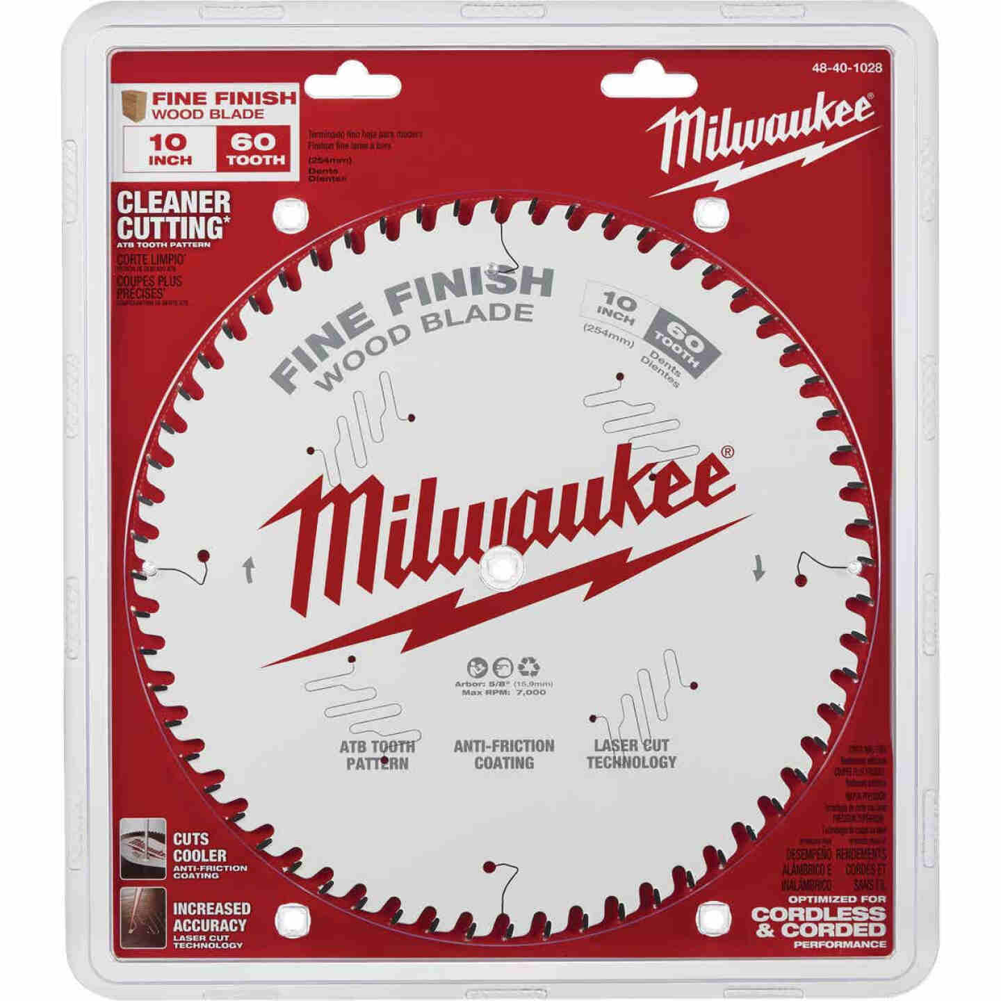 Milwaukee 10 In. 60-Tooth Fine Finish Circular Saw Blade Image 2