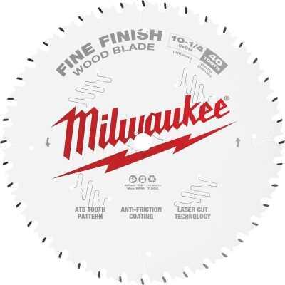 Milwaukee 10-1/4 In. 40-Tooth Fine Finish Circular Saw Blade
