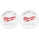 Milwaukee 12 In. 44-Tooth General Purpose & 80-Tooth Fine Finish Wood Circular Saw Blade (2-Pack) Image 1
