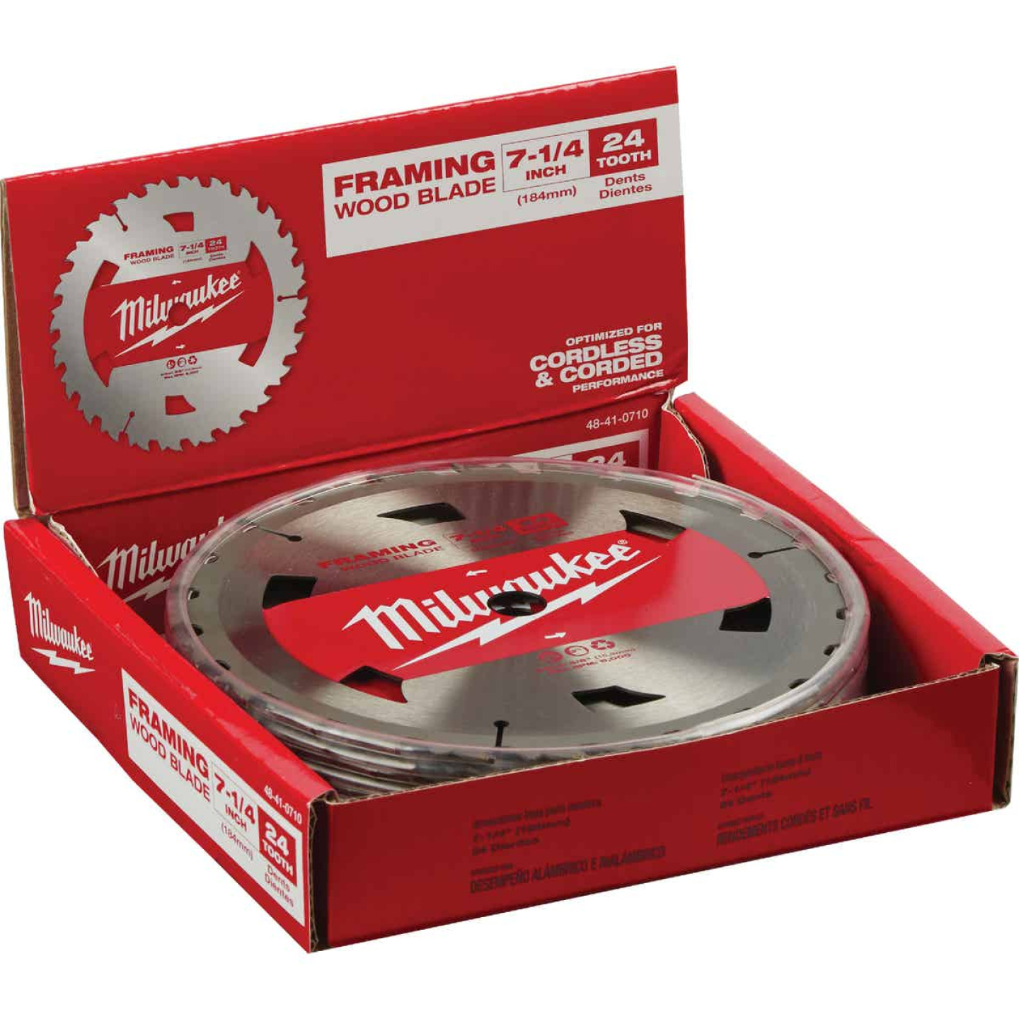 Milwaukee 7-1/4 In. 24-Tooth Standard Framing Circular Saw Blade, Bulk Image 2