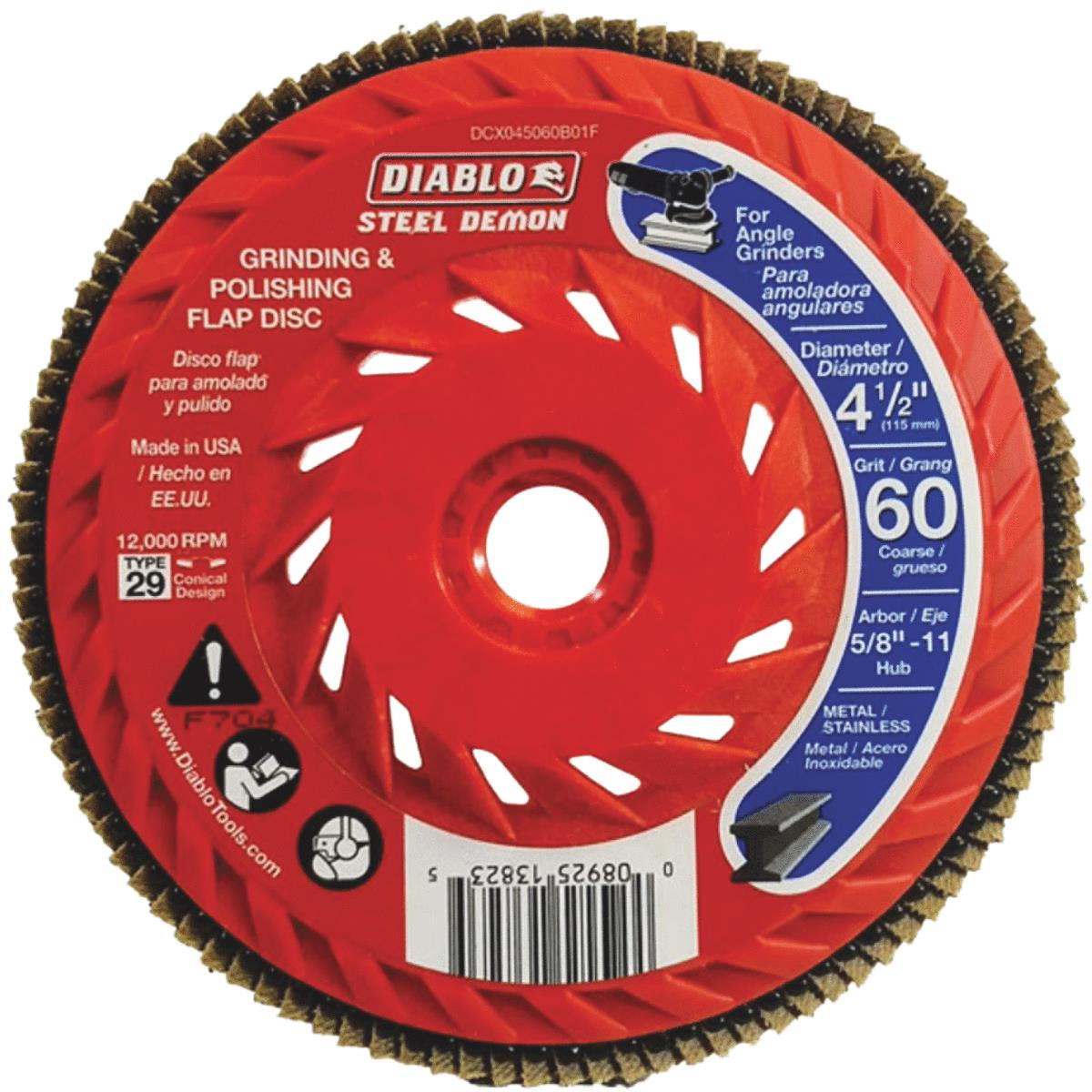Flap Disc 4-1//2 Red 60g