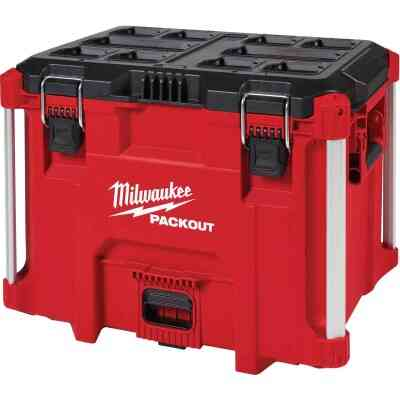 Milwaukee PACKOUT 16 In. x 17 In. Small Toolbox, 100 Lb. Capacity