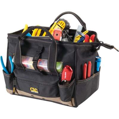 CLC 21-Pocket 12 In. Tool Bag with Top-Side Tray