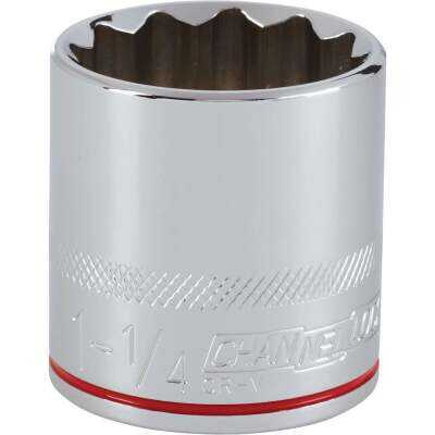 Channellock 1/2 In. Drive 1-1/4 In. 12-Point Shallow Standard Socket