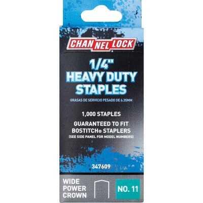 Channellock No. 11 Heavy-Duty Wide Power Crown Staple, 1/4 In. (1000-Pack)