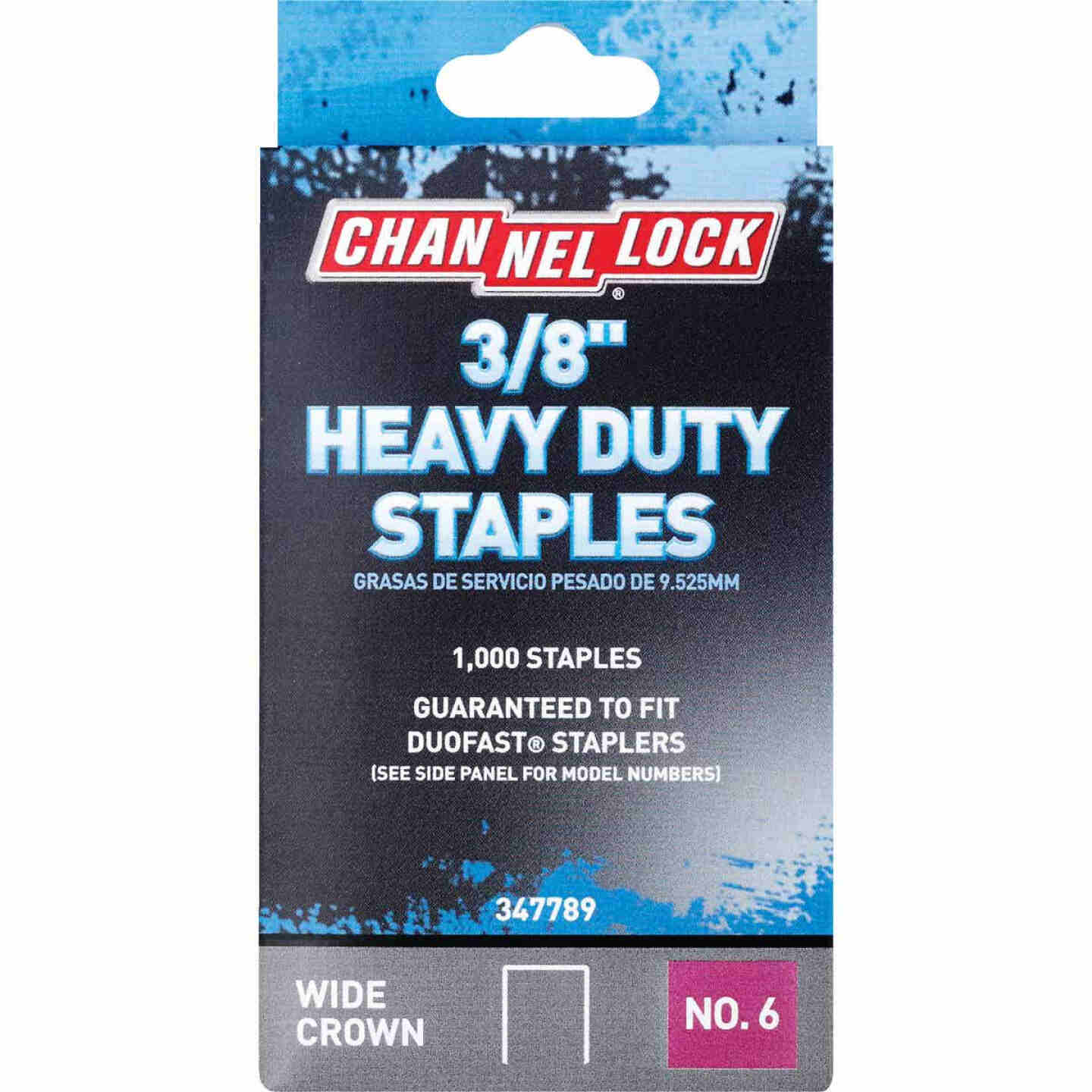 Channellock No. 6 Heavy-Duty Wide Crown Staple, 3/8 In. (1000-Pack) Image 1
