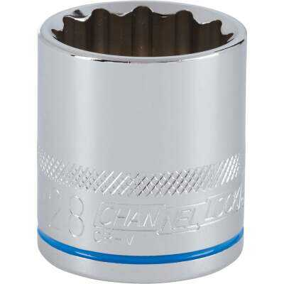 Channellock 1/2 In. Drive 28 mm 12-Point Shallow Metric Socket