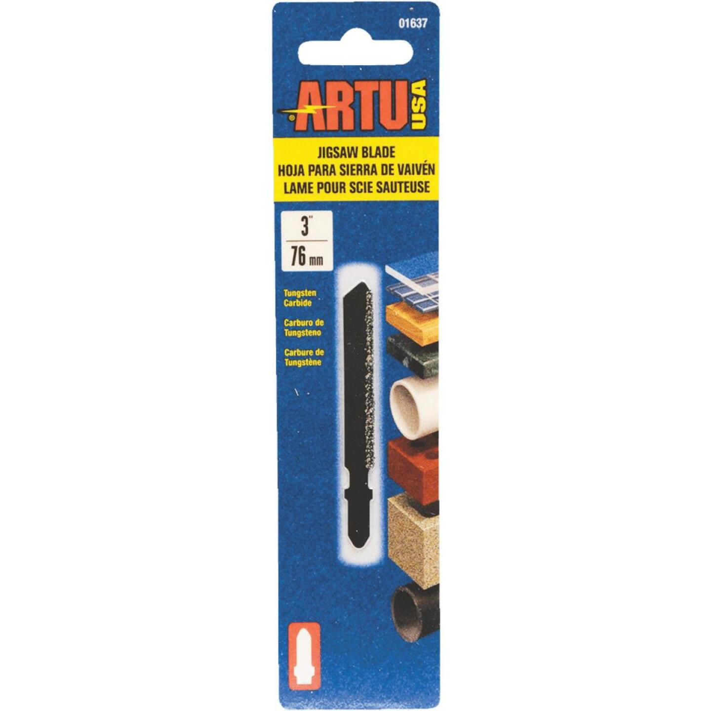 ARTU T-Shank 3 In. Carbide Grit Edge Jig Saw Blade Image 1