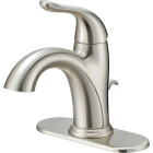 Home Impressions Brushed Nickel 1-Handle Lever 4 In. Centerset Bathroom Faucet with Pop-Up Image 1