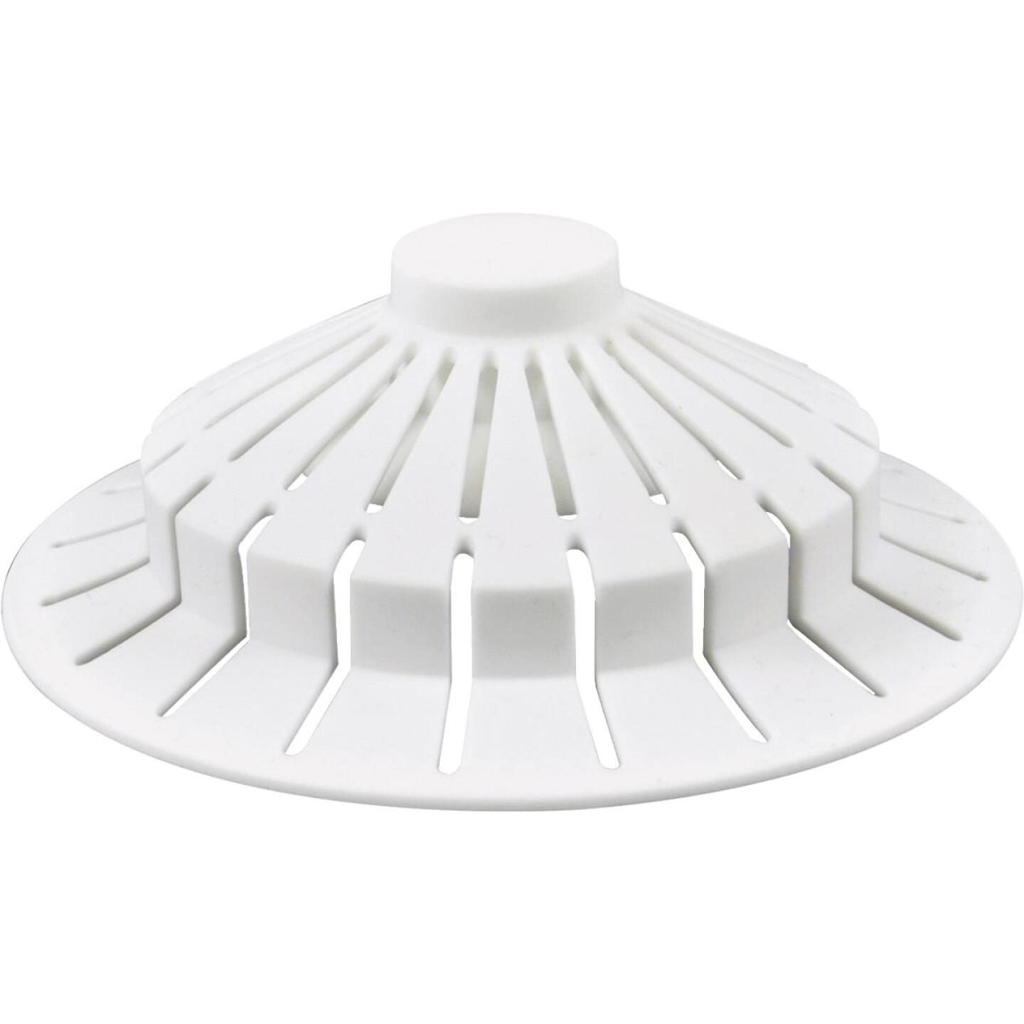 Danco Standard Size Suction Cup Silicone Tub Drain Strainer Image 1
