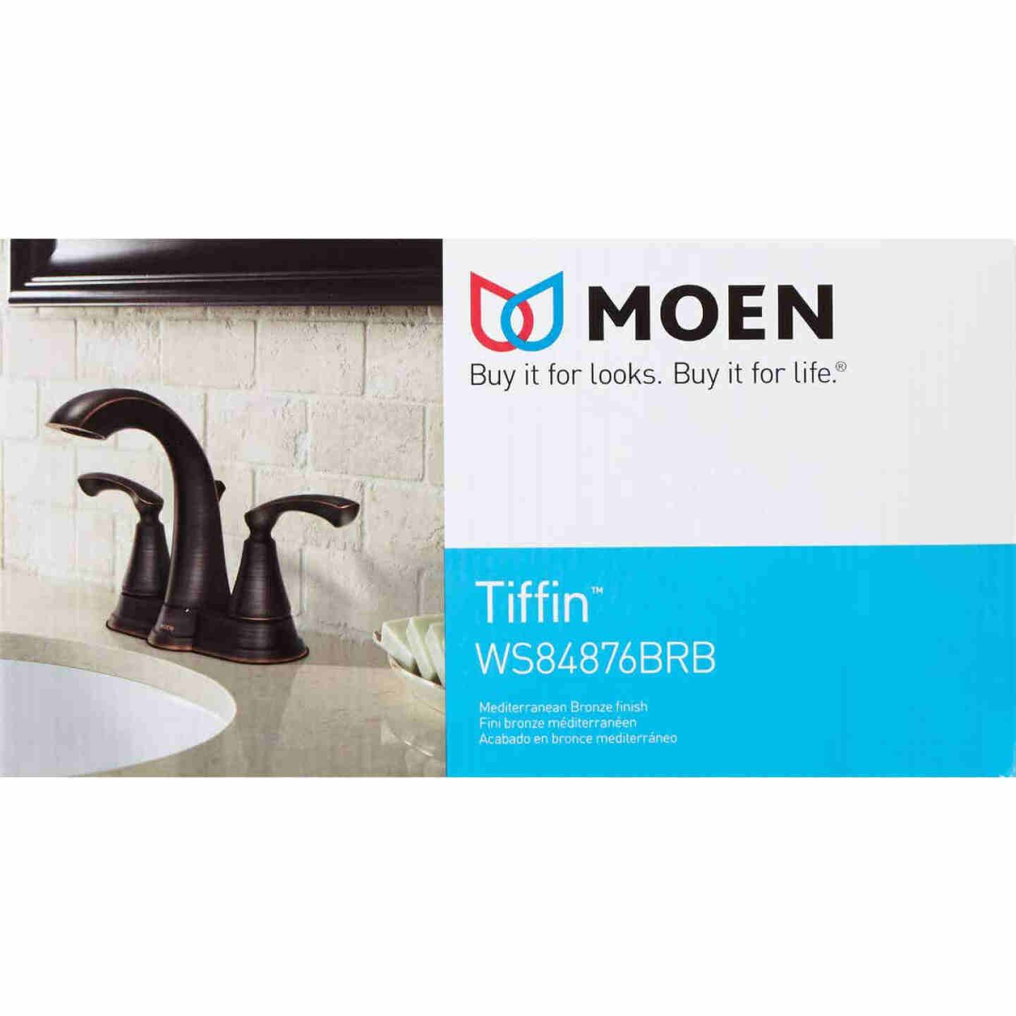 Moen Tiffin Mediterranean Bronze 2-Handle Lever 4 In. Centerset Bathroom Faucet Image 3