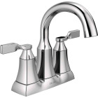 Delta Sawyer Chrome 2-Handle Lever 4 In. Centerset Bathroom Faucet with Pop-Up Image 1