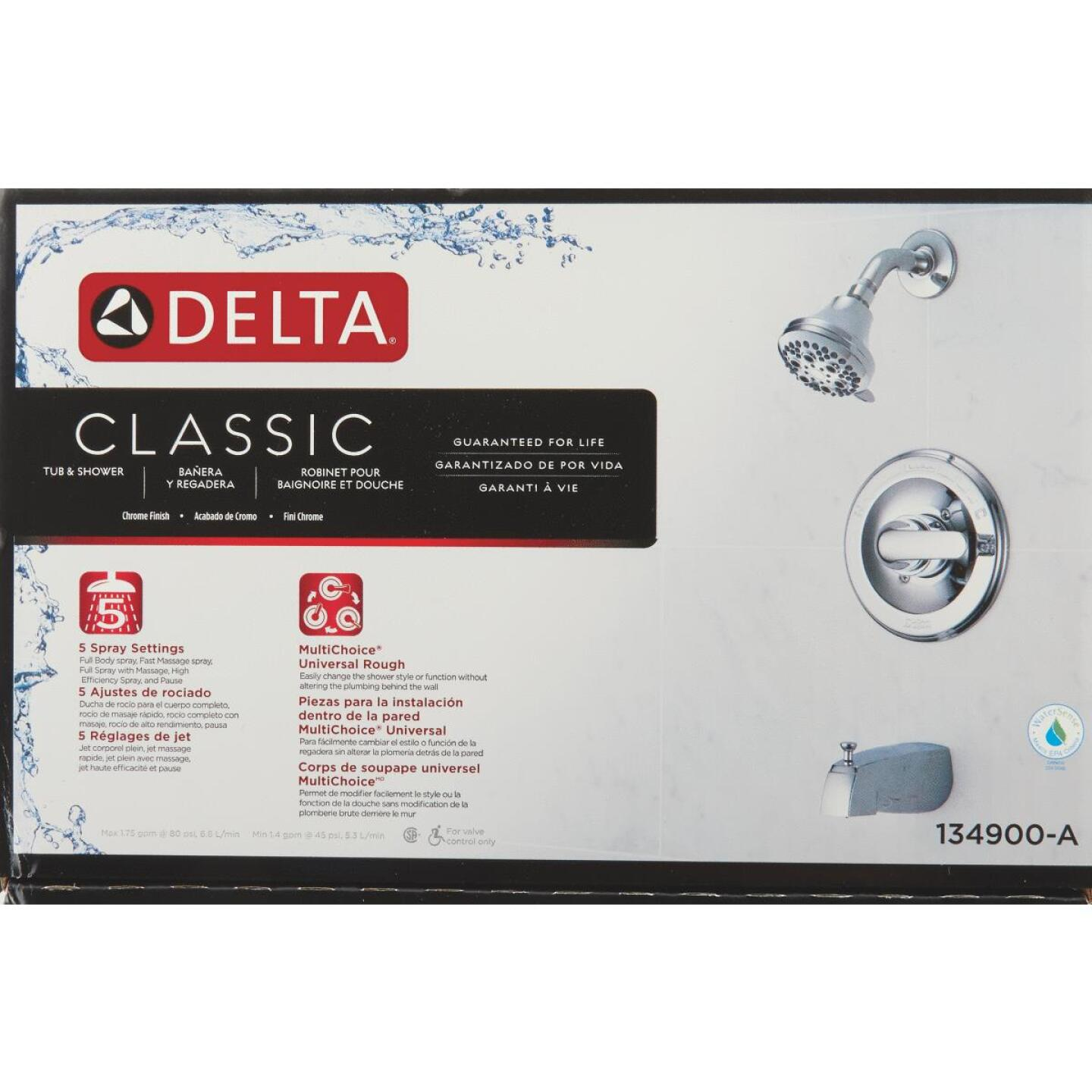 Delta Classic Chrome Single-Handle Tub and Shower Faucet Image 2
