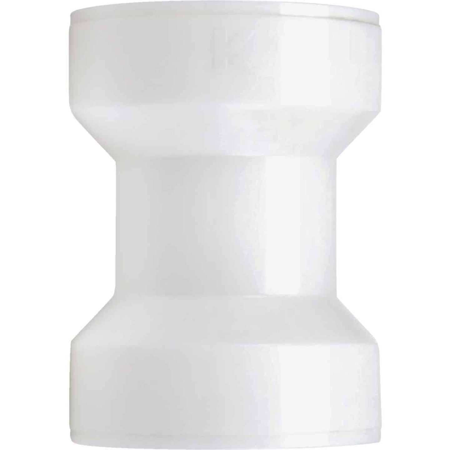 Keeney Insta-Plumb 1-1/2 In. White Plastic Straight Coupling Image 1