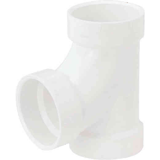 Charlotte Pipe 4 In. Schedule 40 Sanitary PVC Tee