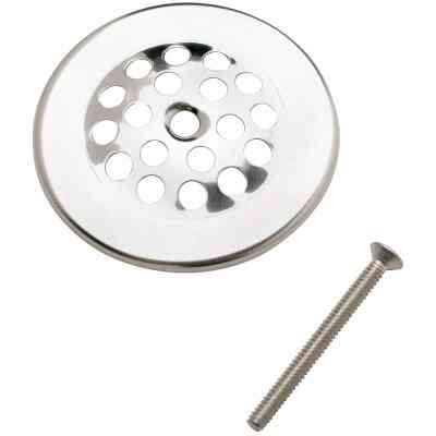 Do it 2 In. Dome Cover Tub Drain Strainer with Chrome Finish