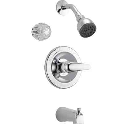Peerless Chrome 1-Handle Lever Tub and Shower Faucet