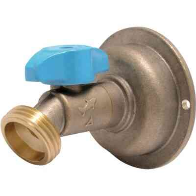 Sharkbite 1/2 In. x 3/4 In. MHT Quarter Turn Brass No Kink 45 Degree Hose Bibb
