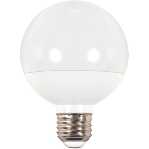 Satco 40W Equivalent Warm White G25 Medium LED Decorative Globe Light Bulb
