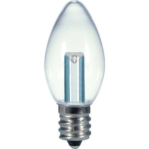 Satco 5W Equivalent Soft White Clear C7 Candelabra Base LED Decorative Light Bulb