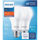 Philips 100W Equivalent Soft White A21 Medium LED Light Bulb (2-Pack) Image 2