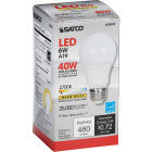Satco 40W Equivalent Warm White A19 Medium Dimmable LED Light Bulb Image 4